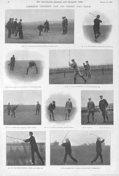 Cambridge University Golf Club. Past and Present Golf Match March 1900.
