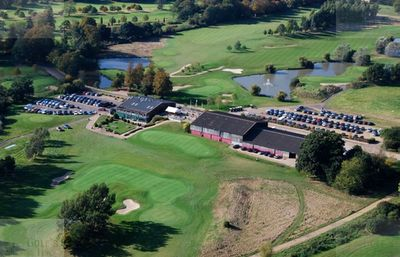 Canford Magna Golf Club, Wimborne, Dorset. The clubhouse and course.