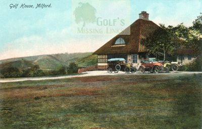 Cannock Chase Golf Club, Milford, Staffs. Clubhouse and cars.