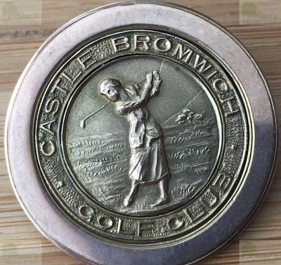 Castle Bromwich Golf Club, Birmingham. Ladies golf brooch circa 1910.