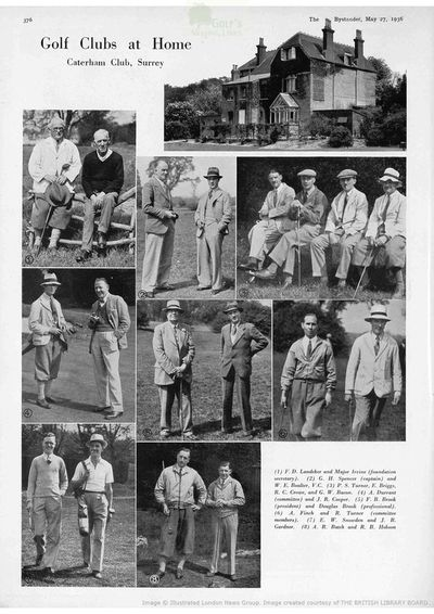Caterham and Kenley Golf Clubs, Surrey. Article from The Bystander May 1936.
