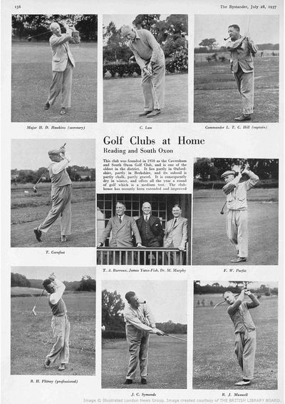 Caversham/Reading & South Oxon Golf Club, Berks. Report from The Bystander July 1937.