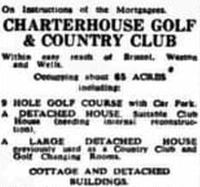 Charterhouse Golf Club, Somerset. Golf and Country Club for sale August 1967.