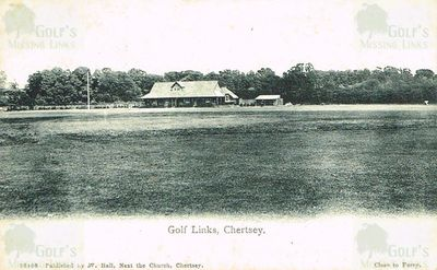 Chertsey Golf Club, Surrey. The Golf Links and Clubhouse.