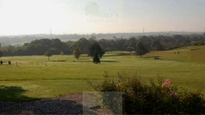 Chessington Golf Centre, Surrey. View of the course.