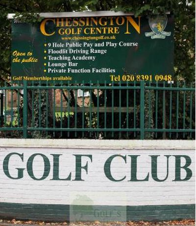 Chessington Golf Centre, Surrey. Entrance to the course.