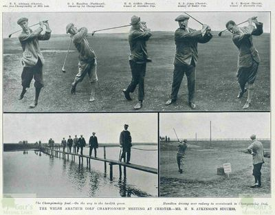 Chester Golf Club, Sealand. The 1913 Welsh Amateur Championship.