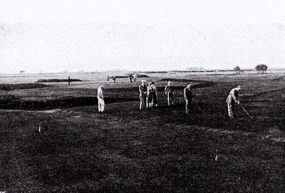 Chester Golf Club. The first and eighteenth.