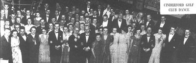 Cinderford Golf Club, Gloucestershire. Picture of the annual dance in November 1933.