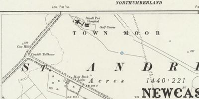 City of Newcastle Golf Club, Town Moor Course. The Town Moor course on the 1899 O.S map.