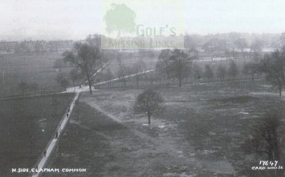 Clapham Common Golf Club. Postcard of pre-WW1 Clapham Common.