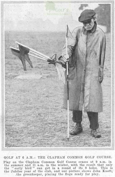 Clapham Common Golf Club, Greater London. John Knott the Clapham Common green-keeper.