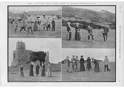 Clevedon Golf Club, Bristol. Article from Illustrated Sporting Dramatic News 1902.