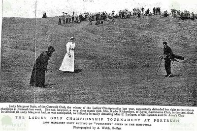Cotswold Golf Club, Stow-on-the-Wold, Gloucestershire. Lady Margaret Scott at Portrush in 1895.