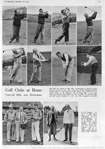 Cotswold Hills Golf Club, Cleeve Hill, Gloucestershire. Report from The Bystander September 1938.