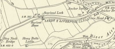 Craven Golf Club, Skipton, Yorkshire. Map showing the location of the earlier course at Gargrave.