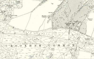 Crookham Golf Club, Crookham Common, Newbury. The golf course on the 1913 O.S. map.