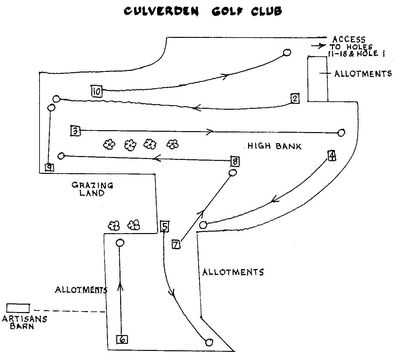 Culverden Golf Club, Tunbridge Wells. Course layout holes 1 to 10.