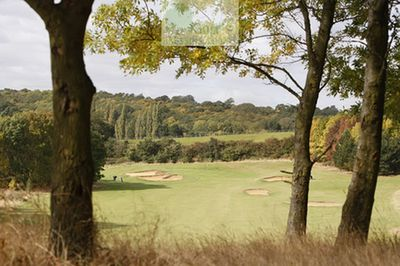 Deangate Ridge Golf Club, Medway. The fifth hole.
