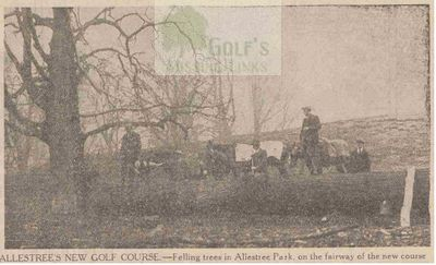 Derbyshire Golf Club. Preparing the new Allestree course 1930.