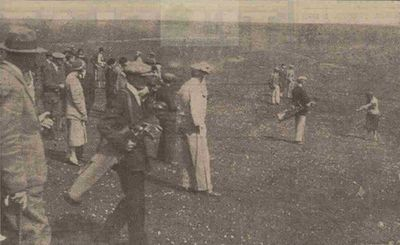 Dover Golf Club, Kent. Miss Diana Fishwick on the Dover course in May 1931.