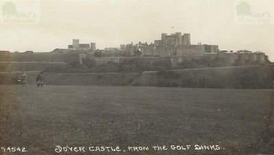 Dover Golf Club, Kent. A pre-WW1 image of the Dover Golf Course.