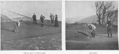 Dover Golf Club, Kent. Article from the Illustrated Sporting Dramatic News March 1902.