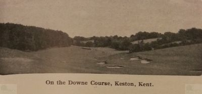 Downe Golf Club, Orpington, Kent. View of the course.