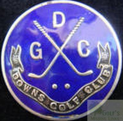Downs Golf Club, Deal, Kent. Club button.