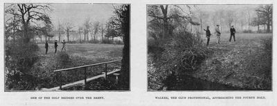 Ealing Golf Club, Twyford Abbey. Article from The Sketch April 1895.