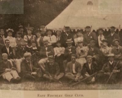 East Finchley Golf Club, London. A group of East Finchley golfers.