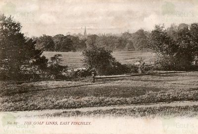 East Finchley Golf Club, London. East Finchley golf course postcard 1904.