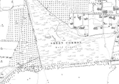 East Sheen Golf Club. Course on the 1898 O.S map.