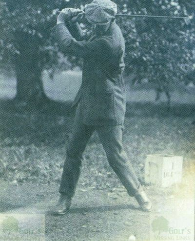 Easton Hall Golf Course, Grantham. James Braid on the first tee.