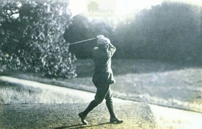 Easton Hall Golf Course, Grantham. Vardon on the tee on the Easton Hall course.