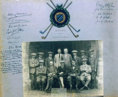 Easton Hall Golf Course, Grantham. Signed picture of the golfers.