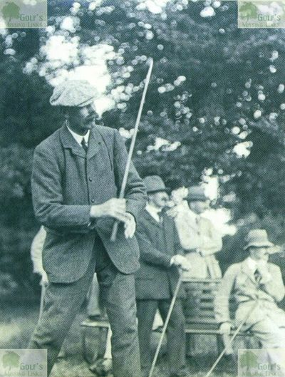 Easton Hall Golf Course, Grantham. James Braid on the Easton Hall golf course.
