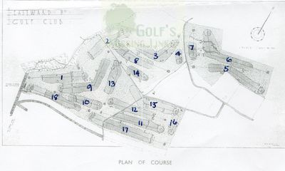 Eastward Ho! Golf Club, Felixstowe. Plan of the former course.