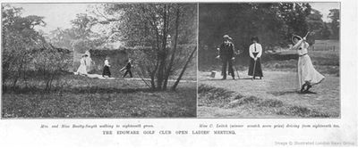 Edgware Golf Club, London. The 1910 Ladies Open Meeting at Edgware.