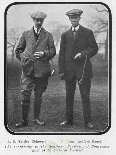 Edgware Golf Club, London. From the Illustrated Sporting Dramatic News March 1911.