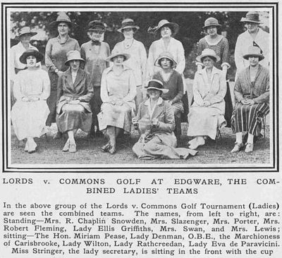 Edgware Golf Club, London. Article from The Tatler July 1920.