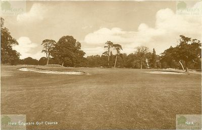 Edgware Golf Club, London. The fourth hole.