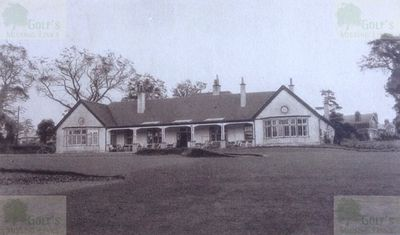 Edgeware Golf Club, London. The clubhouse and course.