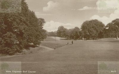 Edgware Golf Club, London. View of the course.