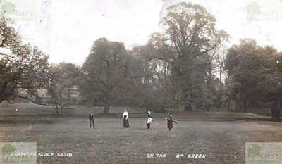 Edgware Golf Club, London. The eighth green in 1907.