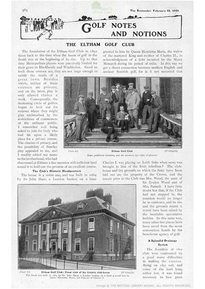 Eltham Golf Club, London. From The Bystander February 1905.
