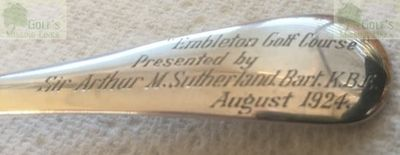 Embleton Golf Club, Northumberland. Engraved 1924 competition spoon.