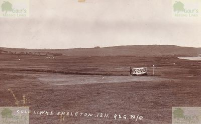 Embleton Golf Club, Northumberland. A pre-WW1 picture of the Embleton golf course.