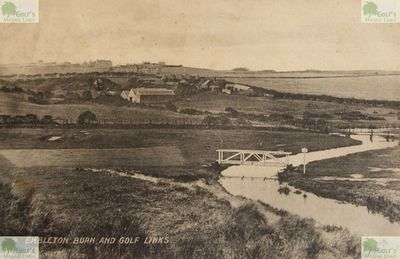 Embleton Golf Club, Northumberland. Embleton Burn and Golf Links on a postcard dated 1919.