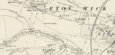 "Eton College Golf Club, ""Athens"" Course. Ordnance Survey Map from 1900 showing the South Field."